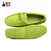EU 38 44 Fashion genuine Cozy Leather Tie Casual SLIP ON loafers CAR Shoes penny loafers men Moccasins