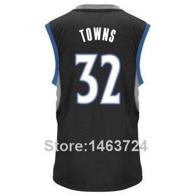 2015 Draft Pick 32 Karl Anthony Towns Jersey Minnesota College Kentucky  Wildcats Towns Basketball Shirt Black Blue White Men s-in Basketball Jerseys  from ... bd71e589a