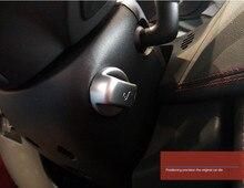 Car Styling ABS Chrome Interni Accessorio Volante Manopola di Regolazione Blocco Pulsante di Copertura Decorazione Assetto Per F-Ritmo 2016