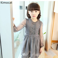 2018 Spring Girl Thin Lace Princess Dress Kids Cotton Mesh Dresses Girls Dress For Party Wedding