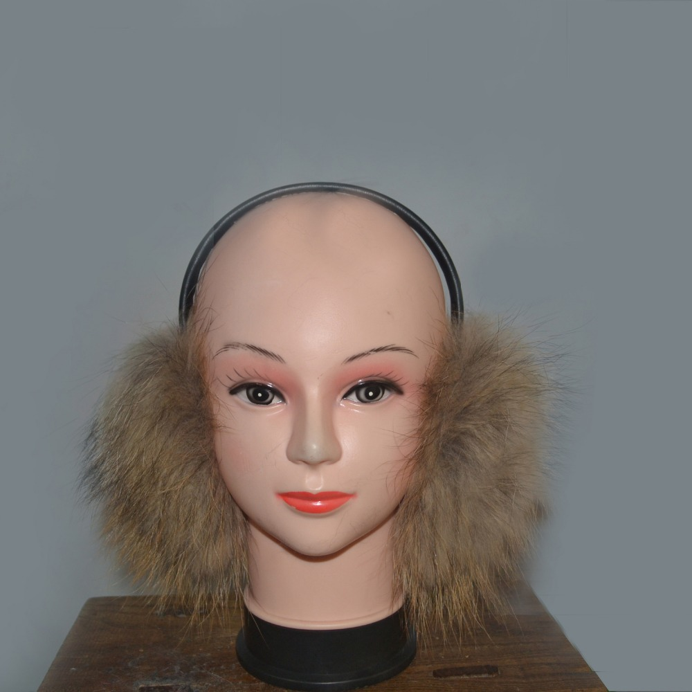 Winter Warm Earmuffs Real Fur Grass Ear Protector Natural Fox Fur Ear Mites