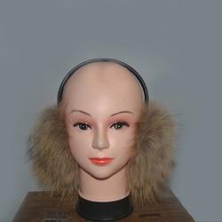 Winter warm earmuffs real fur grass ear protector natural fox fur ear mites