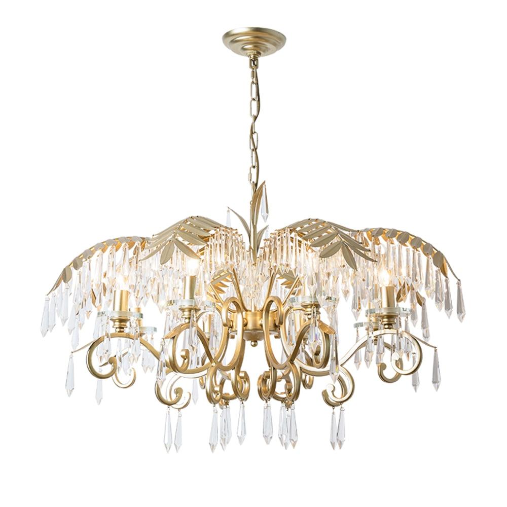 luxury design modern living room crystal chandelier lighting gold dinning room light fixtures AC110V 220V