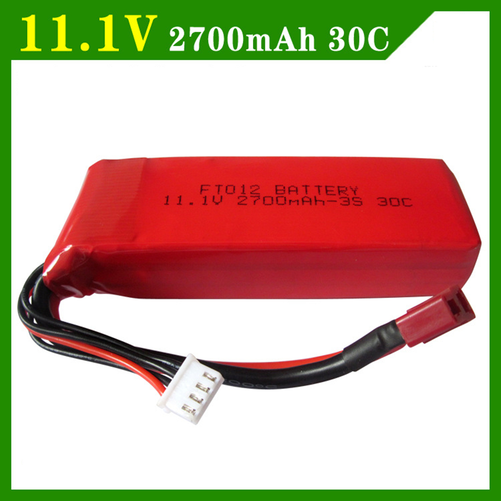<font><b>11.1V</b></font> <font><b>2700mAh</b></font> 3S <font><b>Lipo</b></font> batery Flywheel FT012 <font><b>battery</b></font> boat boat Huanqi 734 remote control car of large capacity image