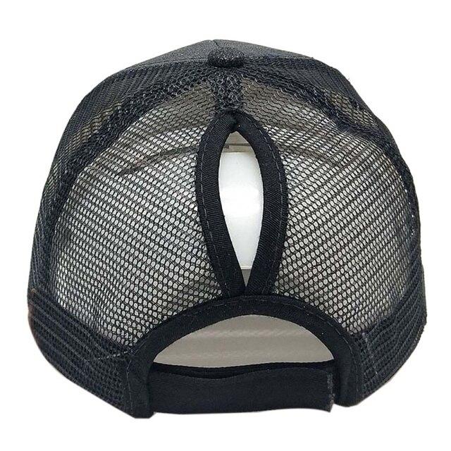 New Glitter Ponytail Baseball Cap Sequins Shiny Messy Bun Snapback Hat Sun Caps For Running Hiking 1