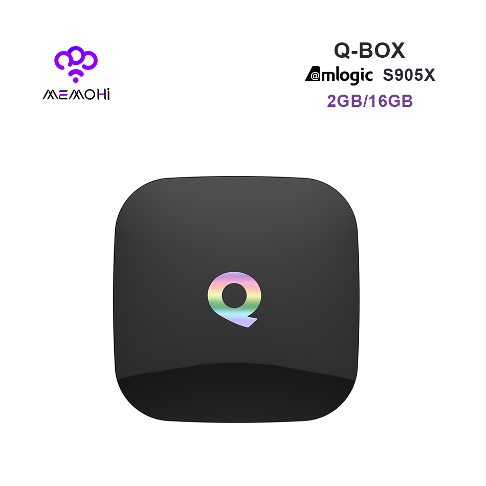 Prix pour MEMOBOX Q BOÎTE Android 6.0 TV Box S905X Quad Core UHD 4 K H.265 KODI Miracast Airplay 2.4G 5G WiFi Bluetooth 4.0 Médias lecteur