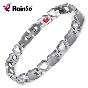 High Quality New Accessories Titanium steel Bio Bracelet Magnetic Keep Health Bangle for Woman Wholesale OSB-082SFIR 1