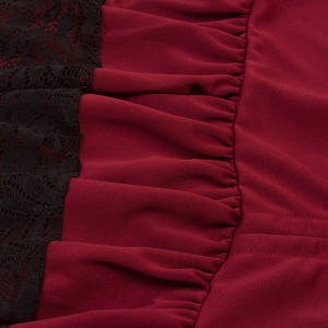 Image 5 - תחפושות Steampunk גותי חצאית תחרה נשים בגדי גבוהה נמוך לפרוע מפלגה לוליטה אדום מימי הביניים ויקטוריאני פאנק סקטים כפתור קדמי