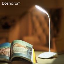 Table Lamp Touch Switch 3 Modes USB Rechargeable 14 LED Desk Lamp Flexible Reading Light For Bedroom Home LED Table Book Lights 1pc rechargeable led light under table base led light lamp for furniture wedding table lighting home party decoration lights