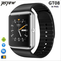 RsFow 3G Wifi Android Smart Watch GT08 Plus Support Play Store Download APP Smart Clock With