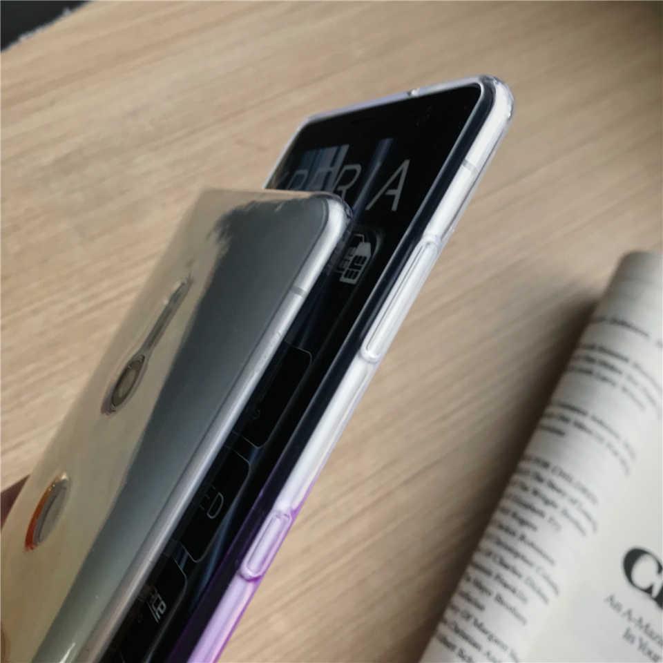 التدرج الهاتف جرابات لأجهزة سوني اريكسون XZ3 XZ XZ1 XZ2 XZ4 المدمجة Z5 X XA XA1 XA2 XA3 الترا غطاء سيليكون لينة