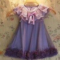 Neue 2016 Baby Mädchen Prinzessin spitzenkleid Kleinkind mädchen Hochzeit Tulle Kleider 2-7y mädchen sommer Blume weste kleid