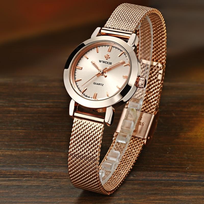 703b3e32e97d MISSFOX reloj mujer relojes de marca de lujo de 2019 18 K oro moda reloj de