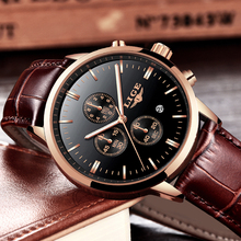 LIGE Mens Watches Top Brand Luxury Leather Casual Quartz Watch Men Military Sport Waterproof Clock Black Watch Relogio Masculino relogio masculino mens watches lige new top brand luxury automatic date quartz watch men military leather waterproof sport watch