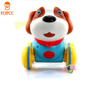Crawl Training Teach Pull Along Puppy Action Toy Pet Kids Baby With Music Light Touch Touch