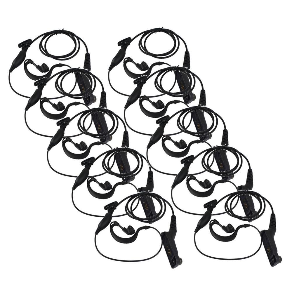 10x g shape ear hook microphone earpiece for motorola xpr6000 xpr6550 dp4801 top