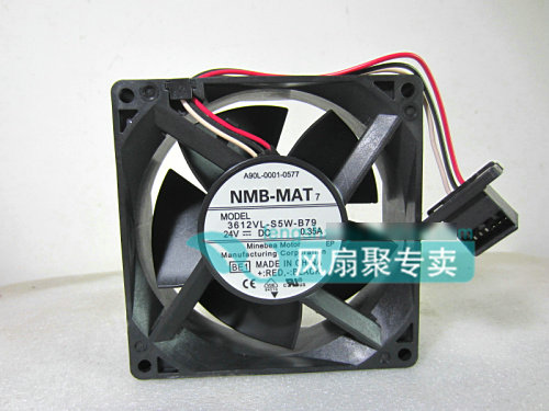 Original NMB for FANUC 3612VL-S5W-B79 A90L-0001-0577 24V 0.35A waterproof cooling fan the new fanuc fanuc a90l 0001 0443 r a90l 0001 0443 f spindle fan