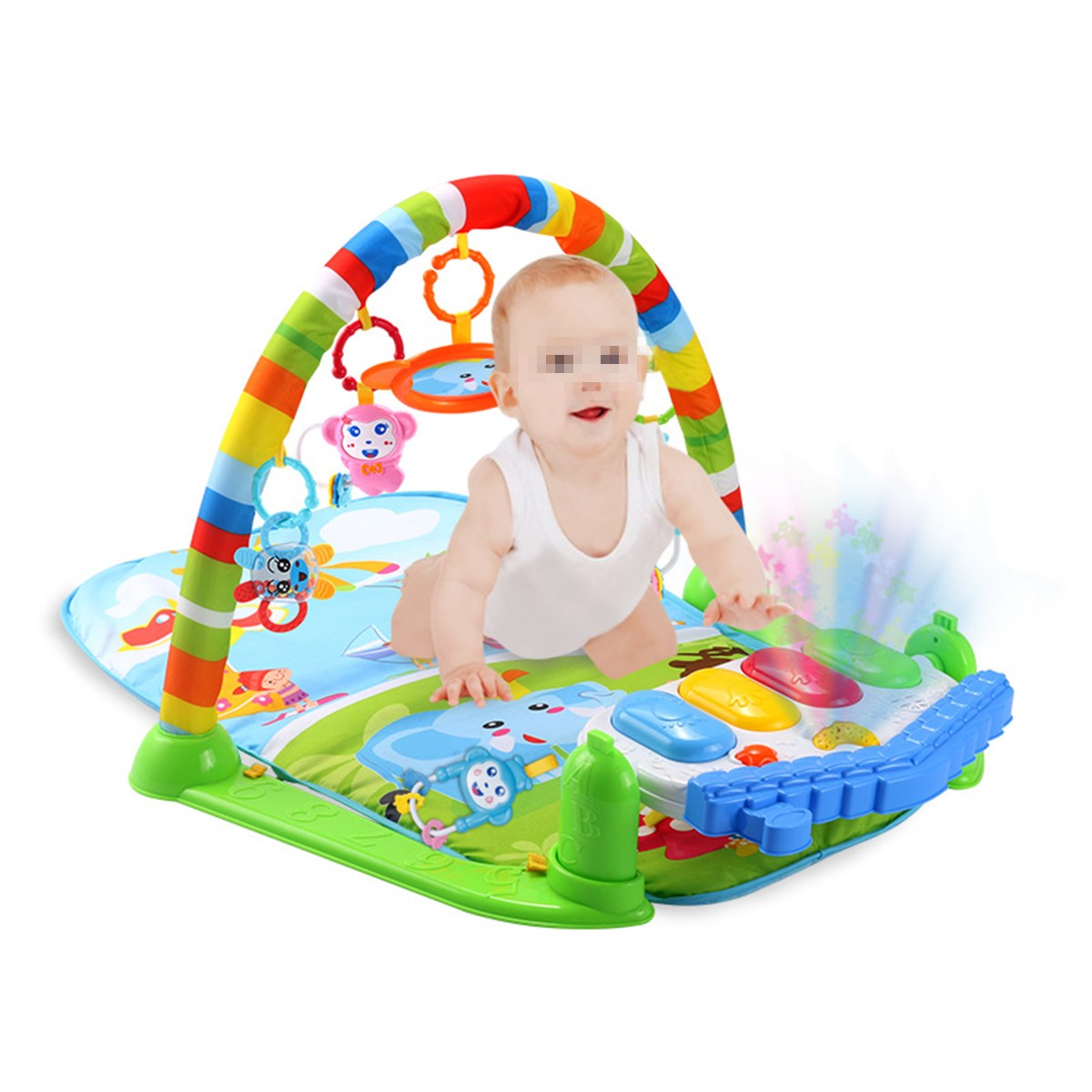 3 In 1 Newborn Infant Baby Game Bed Baby Toddler Cribs Crawling Activity Gym Mat Floor Blanket Kids Toys Carpet Bedding Soft fitness rack baby music electric game blanket newborn baby game blanket toys with remote control