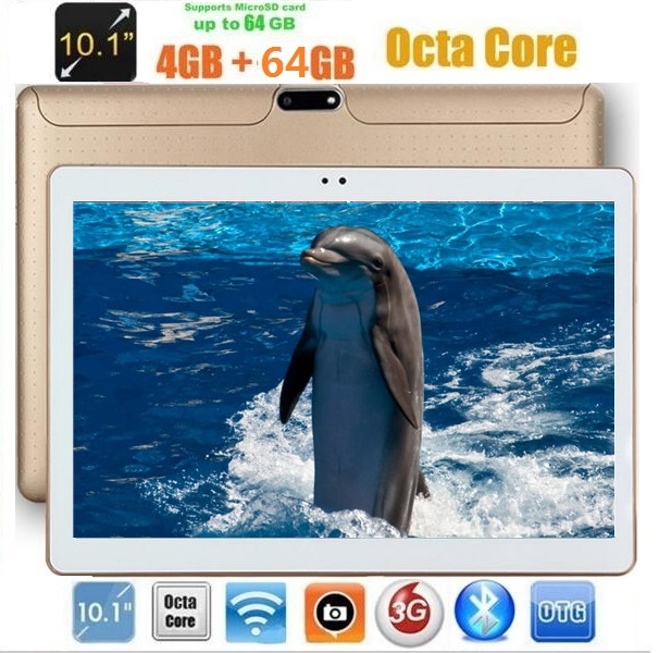 10 дюймов Android 7.0 Планшеты Octa core 4 ГБ Оперативная память 64 ГБ Встроенная память IPS 1280*800 две камеры 10.1 3G Планшеты + подарки