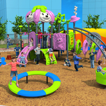 CE, ISO, TUV Антикоррозийная пляжная уличная площадка парк супер качество очень сильная пластиковая развлекательная игровая площадка YLW-OUT171025