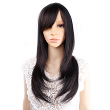 Amir Synthetic Hair Wigs long Straight Blonde Ombre Wig for Women Black natural hair Neat Bang Wigs Cosplay