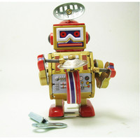Classic Tin Wind Up Clockwork Toys For Children S Gifts Novelty Robot Model Educational Toys
