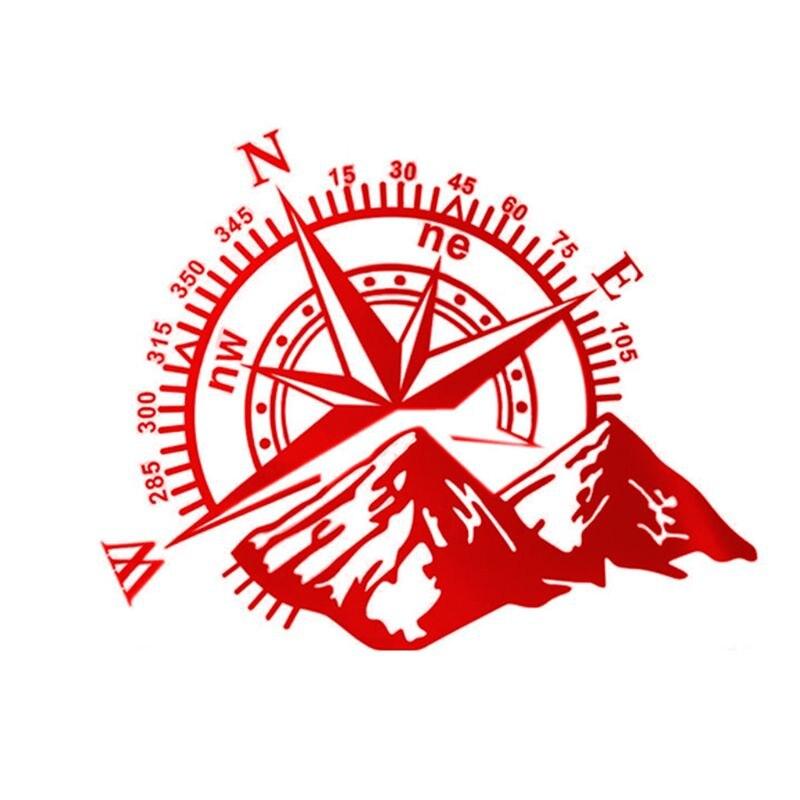 48*34 см внедорожный компас автомобильный стикер Роза навигационная виниловая наклейка Декаль для автомобиля грузовика Авто ноутбук двери автомобиля и капот - Название цвета: Красный