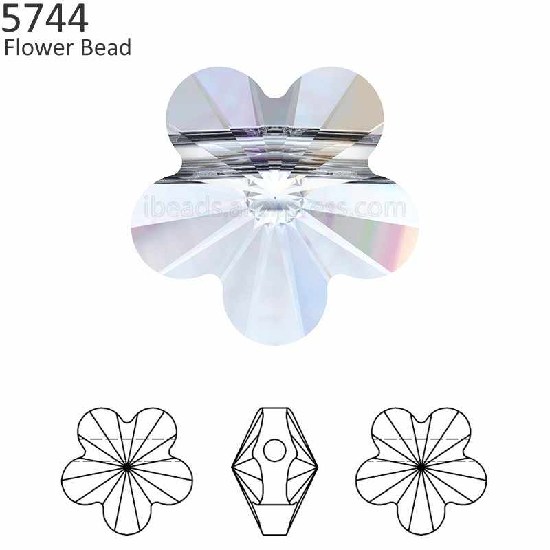 (1 piece) 100% Original Crystal from Swarovski 5744 Flower Bead made in  Austria 397ea879165b