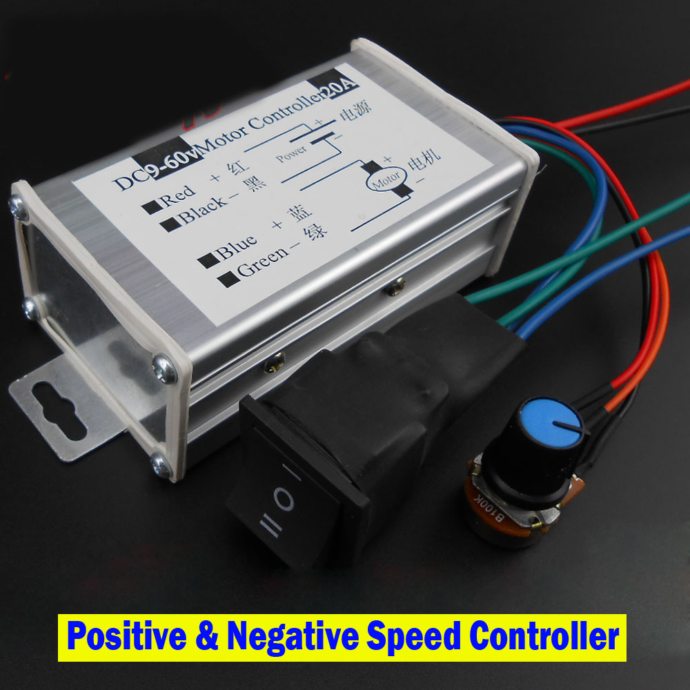 DC Motor Controller Motorantriebsmodul 12 V 24 V 36 V 48 V Reverse Schalter Positive Inversion Drehzahlregler