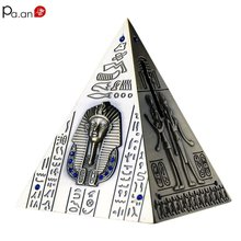 Handcrafted Bronze Pyramids Statue Coin Can Egyptian Pyramid Model World Miracle Tourist Souvenir Piggybank 2019 Dropshipping pyramids