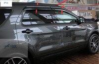 New Style For Ford Explorer 2016 Window Visors Awnings Wind Rain Shield Deflector Visor Guard Vent