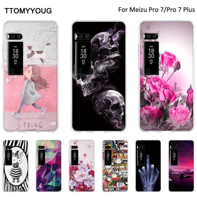 TPU Case For Meizu Pro 7 Plus Soft Silicone Cover For Meizu Pro7 Back Phone Cases Shells For Meizu Pro 7 Fundas Print Shells