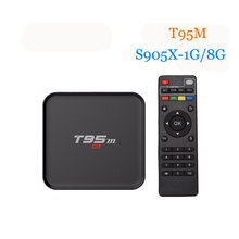 [WeChip] T95m Android 6.0 Smart TV Box Amlogic S905X Quad Core 8 GB mem 1G DDR3 2.4 GHz Wifi LED Support D'affichage Kodi 16.0 PK X96