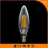 50 шт. 3 Вт E14 E12 светодиодные лампы, c32 светодиодные свечи накаливания лампы 360 градусов свет лампы Винтаж подвесные светильники AC220V