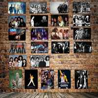 [ DecorMan ] Queen music Metal Plaque Custom wholesale tin signs Mural Paintings Bar PUB Decor HY-1718