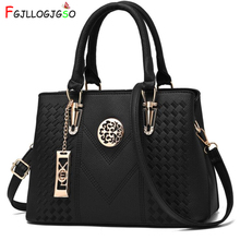 FGJLLOGJGSO Embroidery Messenger Bag Brand Women Handbags Leather Female Crossbo