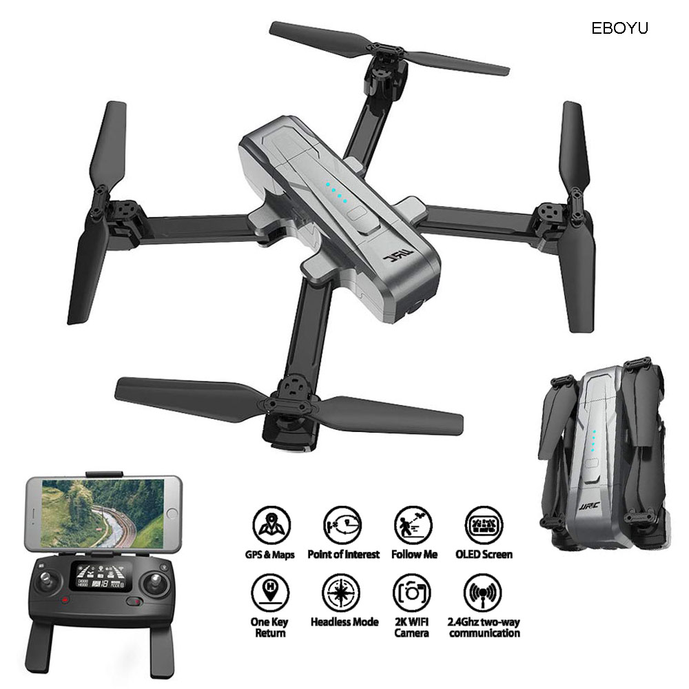 JJRC H73 GPS RC Drone w/ ESC 2K HD Camera 5G WiFi FPV Drone Follow Me Optical Flow Positioning Altitude Hold Foldable Quadcopter image