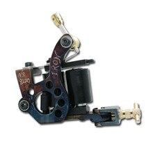 Высокое качество катушки татуировки пушки для подкладки затенение 10 деформаций железа ручной работы тату машина TM-147