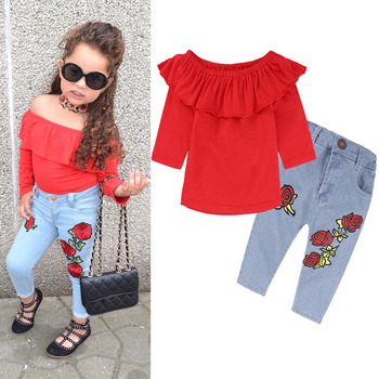PR-145 enfants usure 2018 Printemps de Vêtements pour les petites filles de T-shirt + pantalon Enfants Ensemble Survêtement pour costumes pour filles