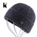 2017 Men's Skullies Autumn And Winter Beanie Wool Hat Knitted Bonnet Cap Thicker Fringe Mens Beanies Hats For Men Bonne Caps