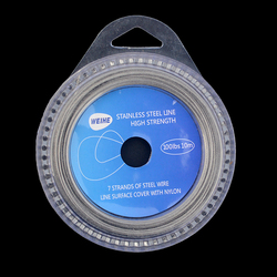 Steel Wire Fishing Line 10m Stainless Steel 7 Strands Braided Nylon Coated Sea Fishing Line with Tube Test 10-120lbs
