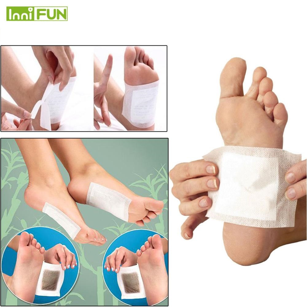 10pcs/lot Foot Care Detox Foot Pads Patches With Adhesive Organic Herbal Cleansing Foot Treatment