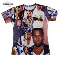 Men S 3d T Shirt Printed Kanye West Rock Singer T Shirt Summer Short Sleeves Tshirt