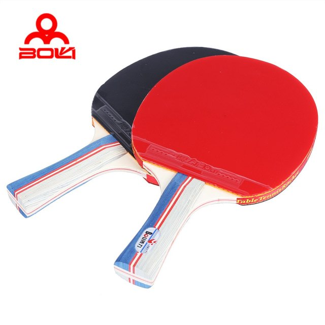 BOLI Table Tennis Ping Pong Racket Set Two Pimples in Rubber Bats ...