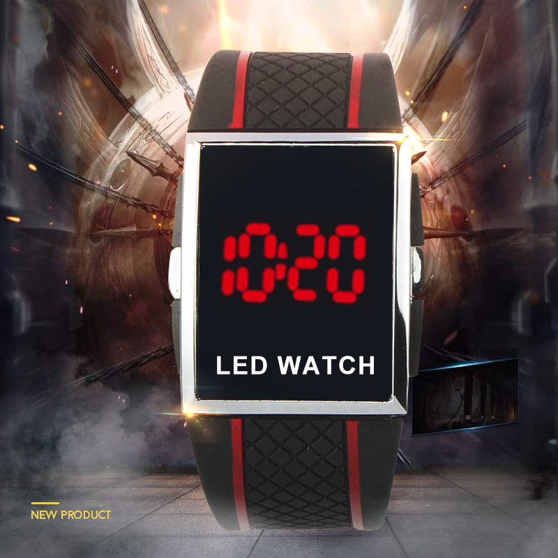 New Fashion Led Digital Watch Silicone Band Electronic Watch Men Women Lover Watch Casual Sports Wristwatch Reloje Hombre Mujer