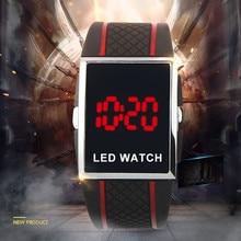 New Fashion Led Digital Watch Silicone Band Electronic Watch