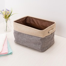 ANHO Foldable Laundry Basket Storage Bag with Handle For Toys Linen Cotton Storage Box Cabinet Clothing Sundries Home Organizer