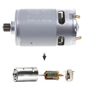 """Image 2 - RS550 12V 16.8V 21V 25V 19500 סל""""ד מנוע DC עם אחת מהירות 9 שיניים גבוהה מומנט הילוך תיבת עבור חשמלי מקדחה/מברג"""