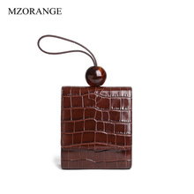 Women Genuine Leather Handbag Luxury Design Crocodile Pattern Acrylic Bead Messenger Bag Female Tote Bag Famous Brand Women Bags esufeir genuine leather women handbag famous brand shoulder bag crocodile pattern leather luxury women bags designer casual tote
