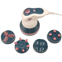 7 Pcs/Sets Infrared Electric Full Body Massager Home Weight Loss Anti cellulite Machine Portable Handle Individual Beauty Tools
